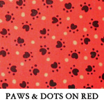 Paws & Dots on Red