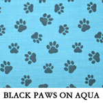 Black Paws on Aqua