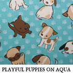 Playful Puppies on Aqua