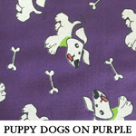 Puppy Dogs on Purple