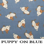 Puppy on Blue