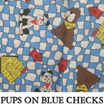 Pups on Blue Checks