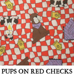 Pups on Red Checks