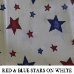 Red & Blue Hearts on White