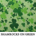 Shamrocks on Green