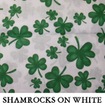 Shamrocks on White