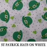 St Patrick Hats on White