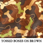 Tossed Bones on Brown