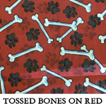 Tossed Bones on Red