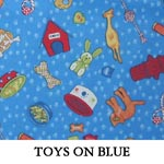 Toys on Blue