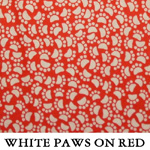 White Paws on Red