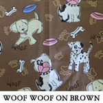 Woof Woof on Brown