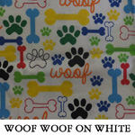 Woof Woof on White