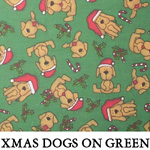 Xmas Dogs on Green