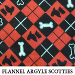 Flannel Argyle Scotties