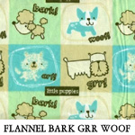 Flannel Bark Grr Woof