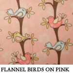 Flannel Birds on Pink