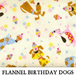 Flannel Birthday Dogs