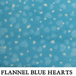 Flannel Blue Hearts