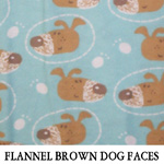 Flannel Brown Dog Faces