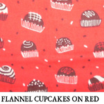 Flannel Cupcakes on Red