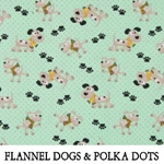 Flannel Dogs & Polka Dots