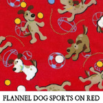 Flannel Dog Sports on Red