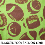 Flannel Footballs on Lime