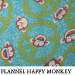 Flannel Happy Monkey