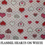 Flannel Hearts on White
