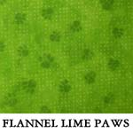 Flannel Lime Paws