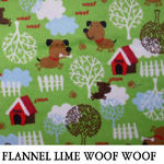 Flannel Lime Woof Woof