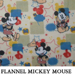 Flannel Mickey Mouse