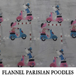 Flannel Parisian Poodles