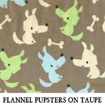 Flannel Pupsters on Taupe
