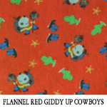 Flannel Red Giddy Up Cowboys