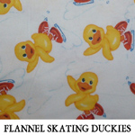 Flannel Skating Duckies