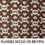 Flannel Skulls on Brown