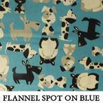 Flannel Spot on Blue