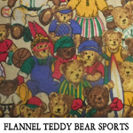 Flannel Teddy Bear Sports