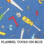 Flannel Tools on Blue