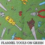 Flannel Tools on Green
