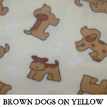 Brown Dogs on Yellow