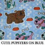 Cute Pupsters on Blue