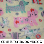 Cute Pupsters on Yellow