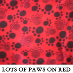 Lots of Paws on Red