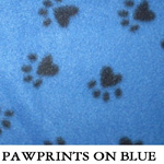 Pawprints on Blue