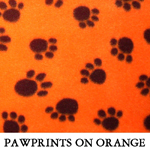 Pawprints on Orange