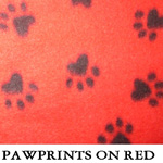 Pawprints on Red