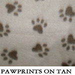 Pawprints on Tan